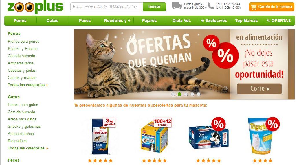 Cupones de descuento de Zooplus.es